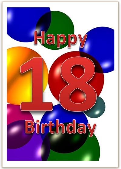 18th Birthday Card In Word Format