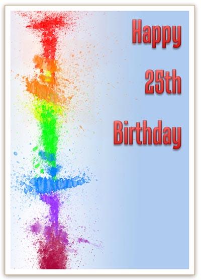 Modern 25th Birthday Card
