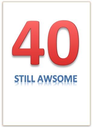 40th Birthday Card Word Template