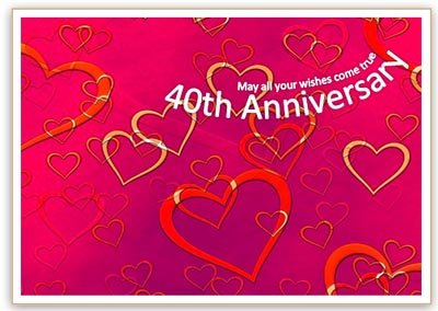 40th Anniversary Card Template