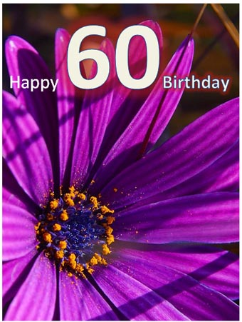 60th Birthday Printable Card