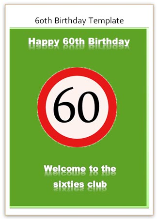 Funny 60th Birthday Greeting Card