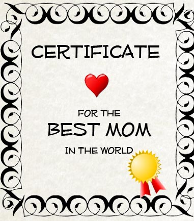Certificate best Mom