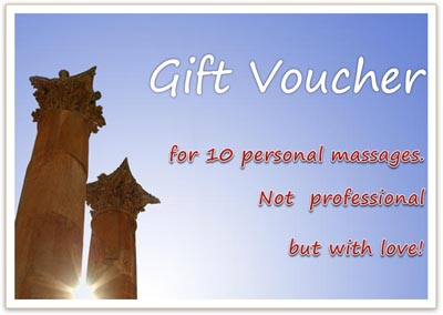 Gift Voucher for Massage