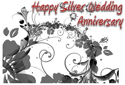 Happy Silver Marriage Anniversary Card