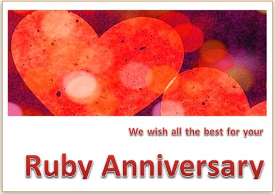Ruby Marriage Anniversary Card