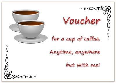 Printable Gift Voucher for Coffee