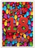 Happy 18th Birthday Card in bright colours