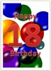 18th Birthday Card in Word Format for free