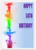 Colorful 18th Birthday Card to Print