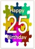 25th Birthday Card for print