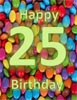 Happy 25th Birthday Card Word Template