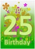Printable 25th Birthday Card Template