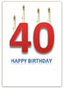 40th Birthday Card with Candles as a free template