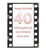 Printable 40th Birthday Card in film design