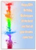 50th Birthday Card Template - Colorful Greeting Card