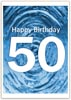 Printable 50th Birthday Greeting Card for Word