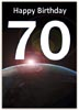 Free 70th Birthday Universe Card to print
