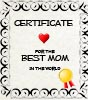 Certificate for the best Mom in the world - free, printable