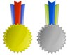 Printable Award Ribbons - Gold and Silver Awards Medals