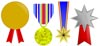 Printable Medals - Templates Gold Silver Bronze