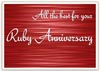 Printable Ruby Anniversary Card Template