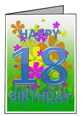 18th Birthday Card Templates Free Printable