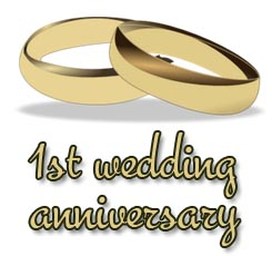 1st Wedding Anniversary Wishes and Greetings