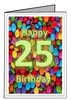 Free 25th Birthday Card Templates