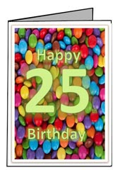 Printable 25th Birthday Card Templates