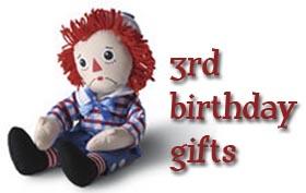 3rd Birthday Gifts