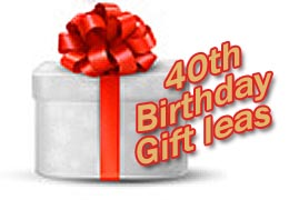 40th Birthday Gift Ideas - presents for nice people
