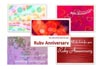 ruby wedding cards