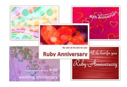 40th wedding anniversary cards