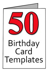 Free Template for Birthday Card