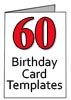 60th Birthdday Card Templates