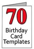 Templates for 70th Brithday Cards