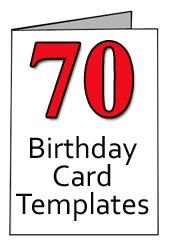 70th Birthday Printable Card Templates Cards