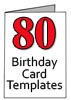 80 Birthday Card Templates