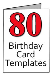 Free Printable 80th Birthday Cards