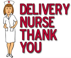 Delivery Nurse Thank You