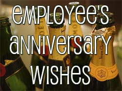 Employee Anniversary Wishes