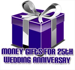 money gift silver wedding anniversary