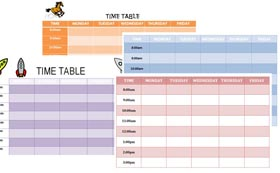 Free Schedule Templates